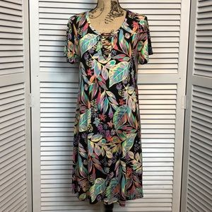 NWOT Spense Multicolored T-shirt Dress -Sz L